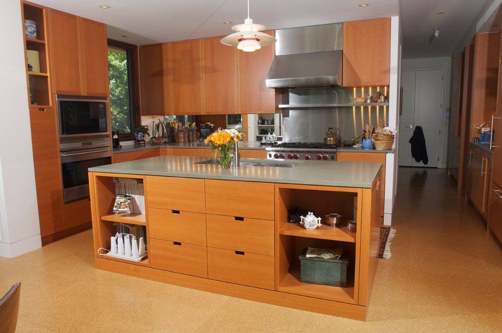 Kitchen with fir cabinetry