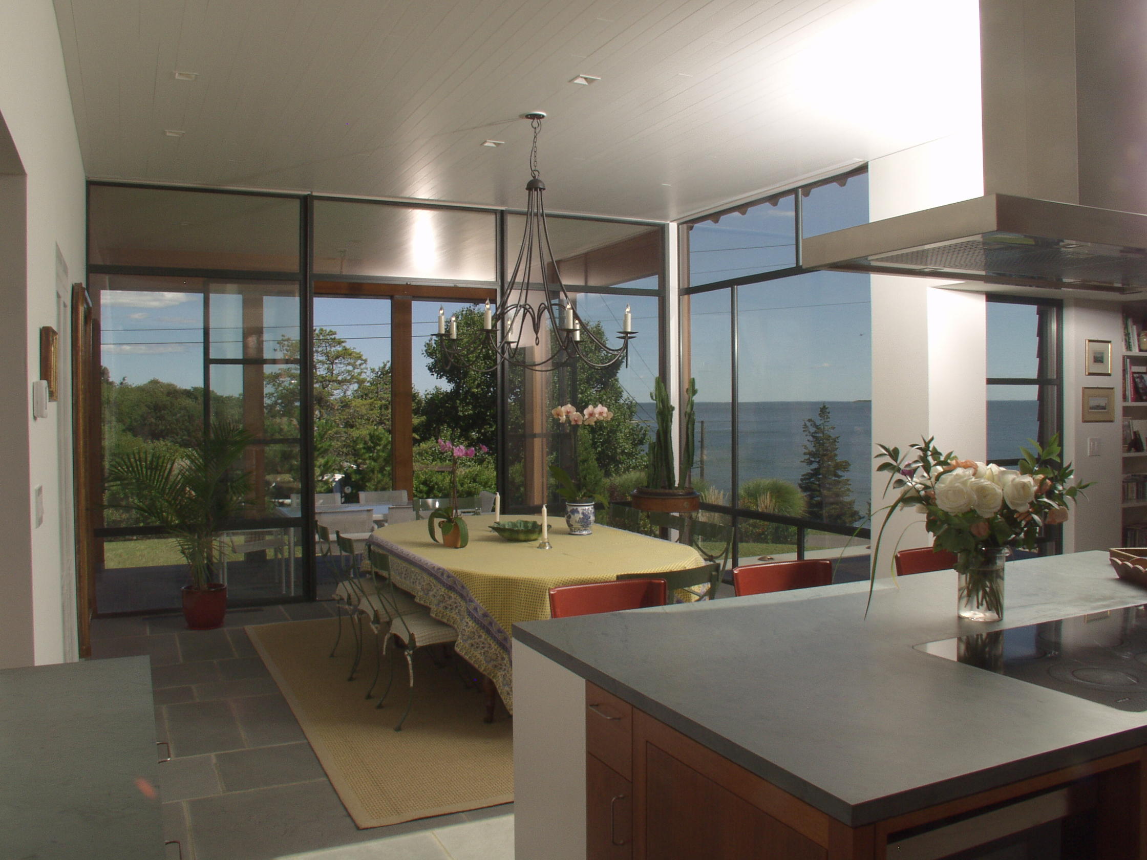 View to dining and (retractable) screened porch