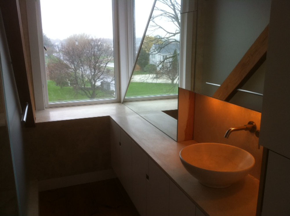 New dormer bathroom