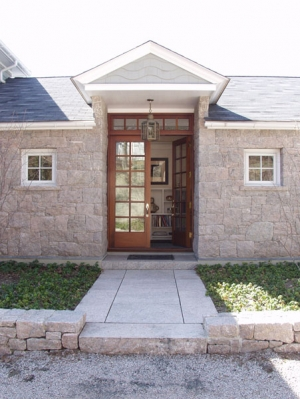 Stony Creek granite and mahogany entrance